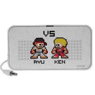 8bit Ryu CONTRA Ken Portátil Altavoz
