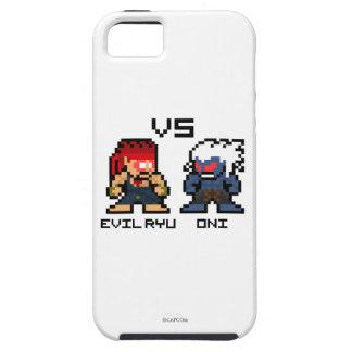 8bit Ryu malvado CONTRA Oni iPhone 5 Case-Mate Protector