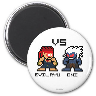 8bit Ryu malvado CONTRA Oni Imanes Para Frigoríficos