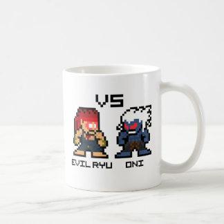 8bit Ryu malvado CONTRA Oni Tazas De Café