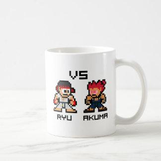 8bit Ryu VS Akuma Coffee Mug