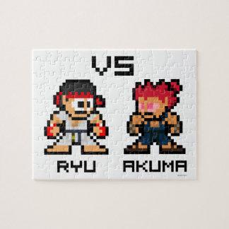 8bit Ryu VS Akuma Jigsaw Puzzle