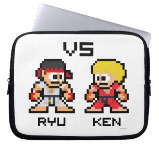 8bit Ryu VS Ken Laptop Computer Sleeve