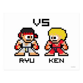 8bit Ryu VS Ken Postcard