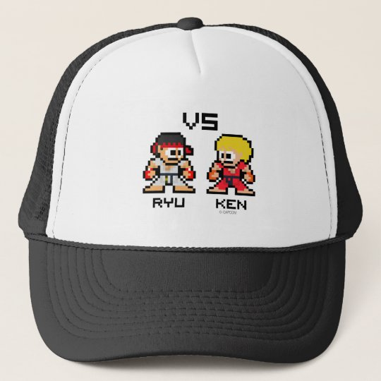8bit Ryu VS Ken Trucker Hat