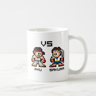 8bit Ryu VS Sakura Coffee Mug