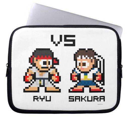 8bit Ryu VS Sakura Computer Sleeve