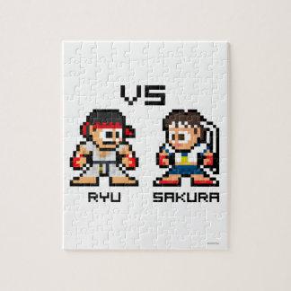 8bit Ryu VS Sakura Jigsaw Puzzle