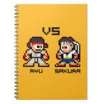 8bit Ryu VS Sakura Notebook