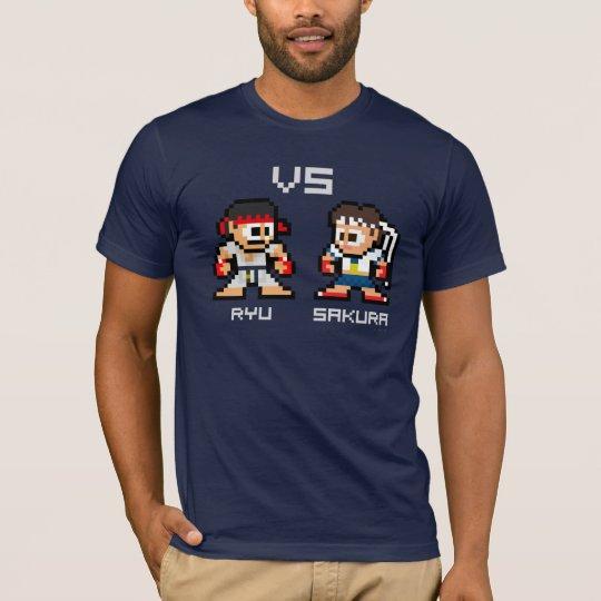8bit Ryu VS Sakura T-Shirt