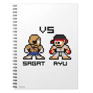 8bit Sagat CONTRA Ryu Cuadernos