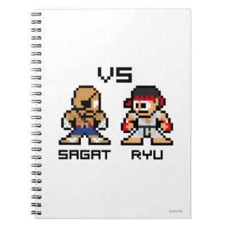 8bit Sagat CONTRA Ryu Libros De Apuntes