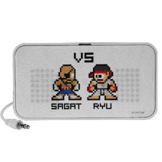 8bit Sagat CONTRA Ryu Notebook Altavoces