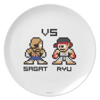 8bit Sagat CONTRA Ryu Platos