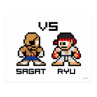 8bit Sagat CONTRA Ryu Postal