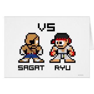 8bit Sagat CONTRA Ryu Tarjetas