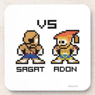8bit Sagat VS Adon Beverage Coaster