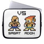 8bit Sagat VS Adon Computer Sleeve