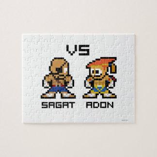 8bit Sagat VS Adon Jigsaw Puzzle