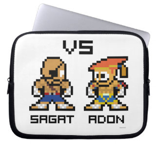 8bit Sagat VS Adon Laptop Sleeve
