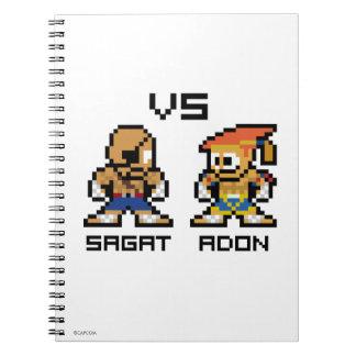 8bit Sagat VS Adon Notebook