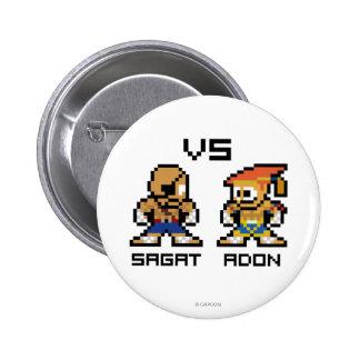 8bit Sagat VS Adon Pinback Button