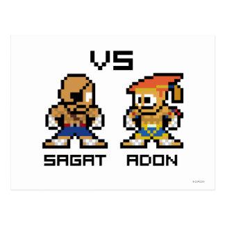 8bit Sagat VS Adon Postcard