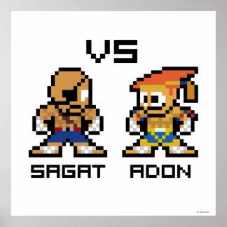 8bit Sagat VS Adon Print