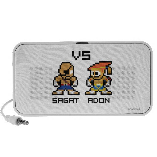 8bit Sagat VS Adon Laptop Speakers