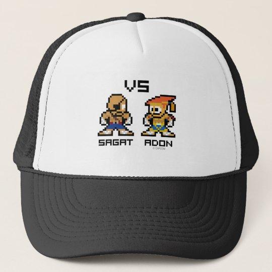 8bit Sagat VS Adon Trucker Hat