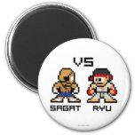 8bit Sagat VS Ryu 2 Inch Round Magnet