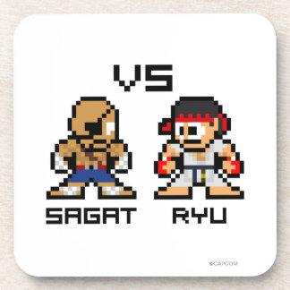 8bit Sagat VS Ryu Drink Coaster