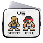 8bit Sagat VS Ryu Laptop Sleeves