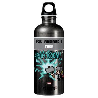 8Bit Thor Attack - For Asgard! Aluminum Water Bottle