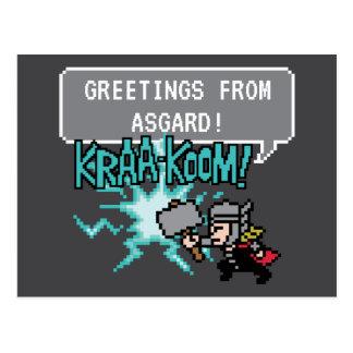 8Bit Thor Attack - For Asgard! Postcard