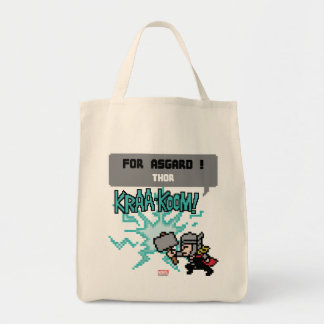 8Bit Thor Attack - For Asgard! Tote Bag