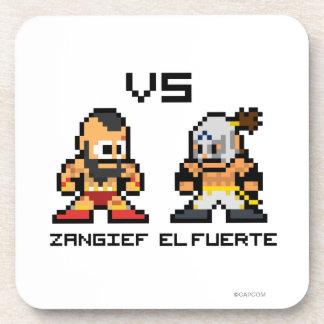 8bit Zangief VS El Fuerte Beverage Coaster
