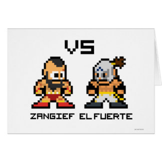 8bit Zangief VS El Fuerte Card