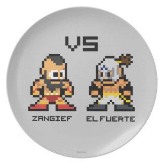 8bit Zangief VS El Fuerte Melamine Plate