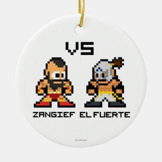 8bit Zangief VS El Fuerte Ornament