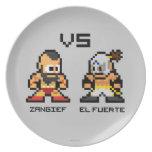 8bit Zangief VS El Fuerte Party Plates
