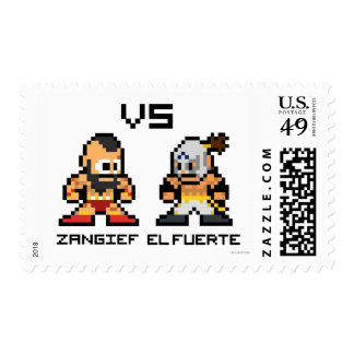 8bit Zangief VS El Fuerte Postage