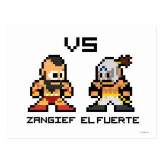 8bit Zangief VS El Fuerte Postcard