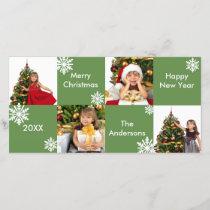 8H Squares Green - Christmas Photo Card