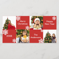 8H Squares Red - Christmas Photo Card