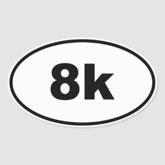 8k oval sticker