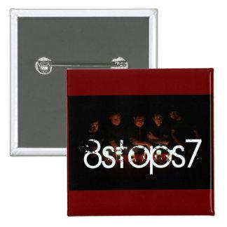 8Stops7 2009 - fondo del rojo del imán Pin Cuadrada 5 Cm