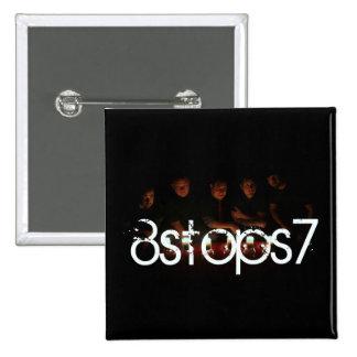 8Stops7 2009 - fondo negro del imán Pin Cuadrado