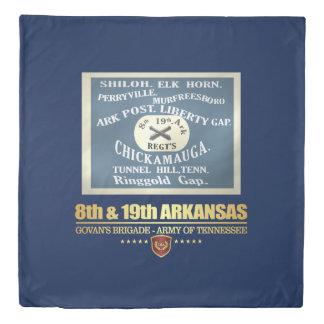 8th & 19th Arkansas Infantry (F10) Duvet Cover
