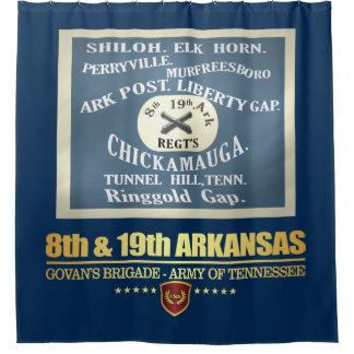 8th & 19th Arkansas Infantry (F10) Shower Curtain